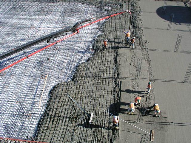 Использование бетона в пос. Октябрьский для строительства